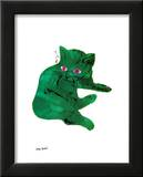 Untitled (Green Cat), c. 1956 Posters by Andy Warhol