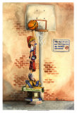 Slam Dunk Poster by Jay Throckmorton