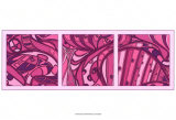 Pink Fission I Print by Tina Kafantaris