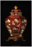 Red Porcelain Vase I Prints