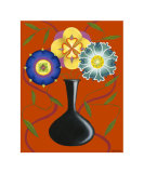Stylized Flowers in Vase I Giclee Print by Chariklia Zarris