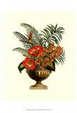 Exotic Flowers in Urn II Prints