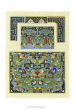 Blue Oriental Designs III Posters