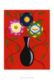 Riki's Stylized Flowers II Print by Chariklia Zarris
