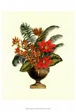 Exotic Flowers in Urn I Posters