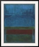 blue green and brown prints by mark rothko