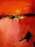 Orange Horizon Poster by Peter Wileman
