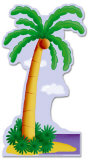 Palm Tree Lifesize Standup Poster Stand Up