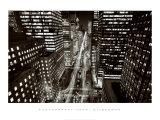 Park Avenue at Night, New York City Art by Henri Silberman