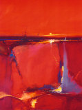 Red Horizon Print by Peter Wileman