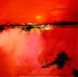 Horizonte naranja Lámina por Peter Wileman