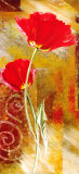 Two Tulips Print by Yvonne Dulac
