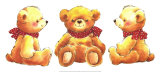 Teddies Prints by  Makiko