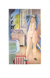 Jeune Fille au Drap Bleu, 1986 Collectable Print by Conte de Balthus
