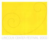 Yellow Curled Figure Silketrykk av Robert Mangold