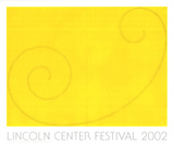 Yellow Curled Figure Serigraph by Robert Mangold