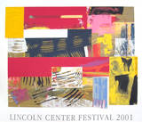 Lincoln Center Festival, 2001 Sérigraphie par Sam Gilliam