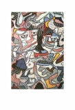 Hourloupe, 1963 Poster af Jean Dubuffet
