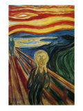 The Scream Print by Edvard Munch