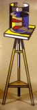 Pecera con carpa dorada en una mesa Láminas por Roy Lichtenstein