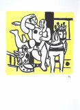 Le Jeu Collectable Print by Fernand Leger