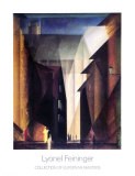 Barfusserkirche , 1924 Art by Lyonel Feininger