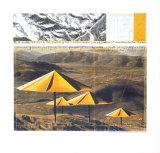 Die gelben Regenschirme, 1991 Kunstdrucke von  Christo