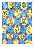 Faces, 1998 Collectable Print by Kenny Scharf