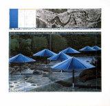 Die blauen Regenschirme, 1991 Kunstdruck von  Christo