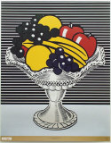 Still Life with Crystal Bowl Lmina por Roy Lichtenstein