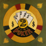 Two Dollar Poker Chip Posters by Gregory Gorham