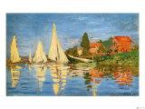 Régate à Argenteuil Reproduction procédé giclée par Claude Monet
