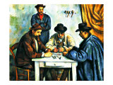 Card Players with Pipes Giclee Print