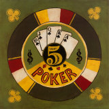 Five Dollar Poker Chip Prints by Gregory Gorham