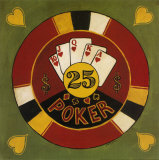 Twenty-Five Dollar Poker Chip Poster by Gregory Gorham