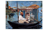 Monet Floating in His Studio Giclee Print by Édouard Manet