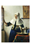 Young Dutch Woman with a Water Pitcher Giclée-tryk af Jan Vermeer