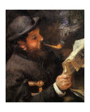 Portrait of Claude Monet Reading Giclee Print by Édouard Manet