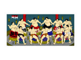 Japanese Sumo Wrestlers Giclee Print