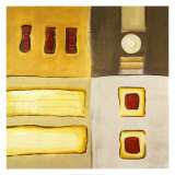 Golden Bars Prints by Lisa Ridgers
