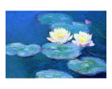Waterlilies, Evening Giclee Print by Claude Monet