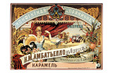 Pubblicità d'epoca di confetteria russa Stampa giclée