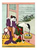 Two Japanese Geisha Bathing Giclee Print