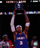 Allen Iverson - 2005 All Star Game - Holds Up The MVP Trophy Photo