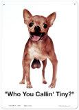 Who You Callin Tiny Tin Sign
