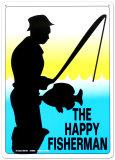 El pescador feliz Cartel de metal