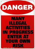Danger Blikkskilt