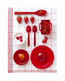 Red Cooking Prints by Camille Soulayrol