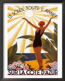 Sur La Cote D'azur Art by Roger Broders