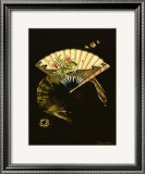 Oriental Fan II Print by Nancy Slocum